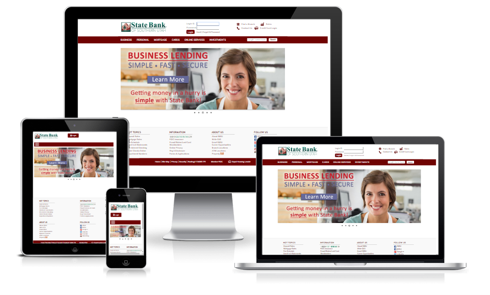 State Bank of Southern Utah - Responsive Design Refresh