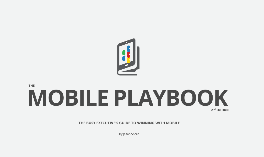 Google's mobile playbook screenshot