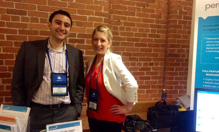 Kemal and Lauren at Higher Ed Web New England