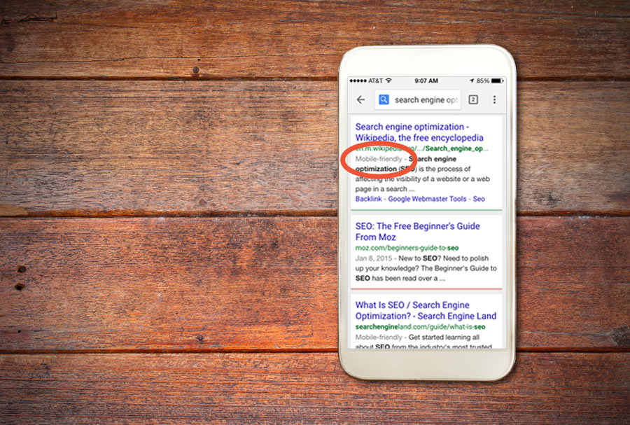 mobile friendly websites will perform better in google search